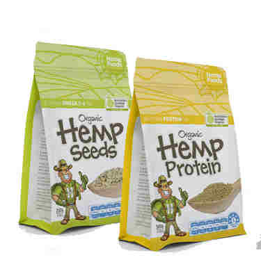 hemp seeds and hemp protein powder