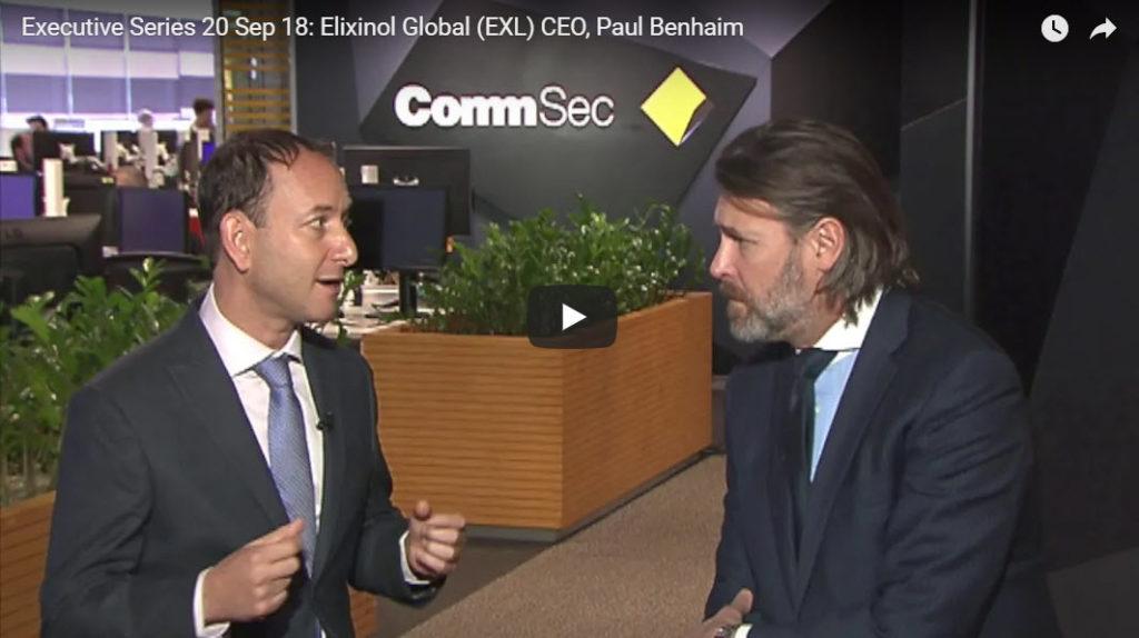 Elixinol CEO Paul Benhaim interview video at CommSec