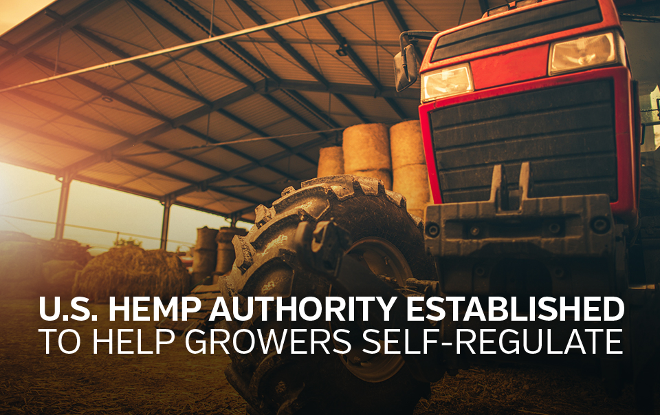 "Tractor inside barn cationed ""U.S. hemp authority established to help growers self-regulate"""