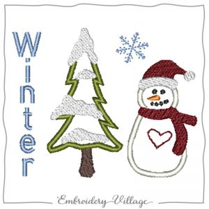 1030-winter-snowman-embroidery-village