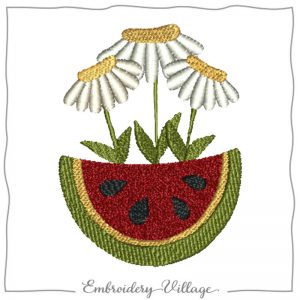 1016-watermelon-daisies-embroidery-village
