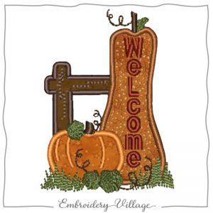 1017-fence-post-welcome-applique-embroidery-village