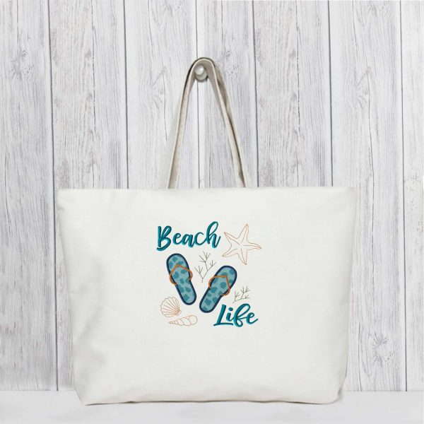 EV1118-beach-life-embroidery-village-tote-bag