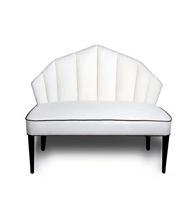 Noa Upholstered Two Seater Armless Sofa