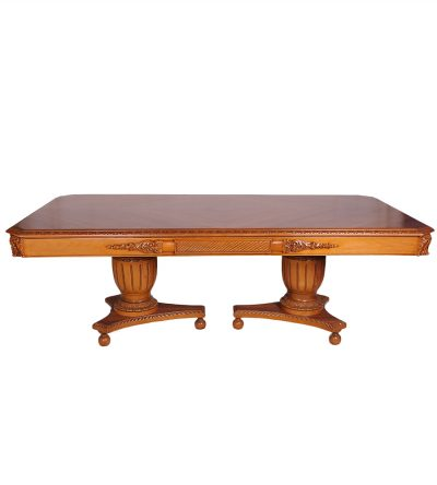 Luxury Antique Dining Table with Hand Carved Beach wood