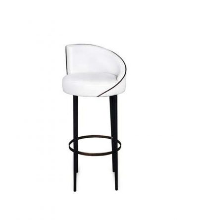 Einar Round Upholstered Bar Chair