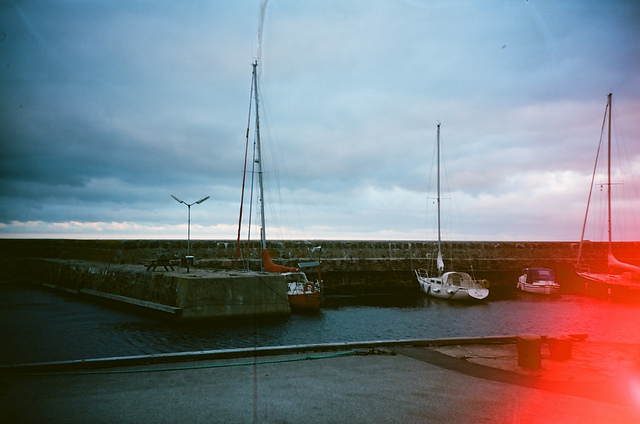 sail boats with a light leak