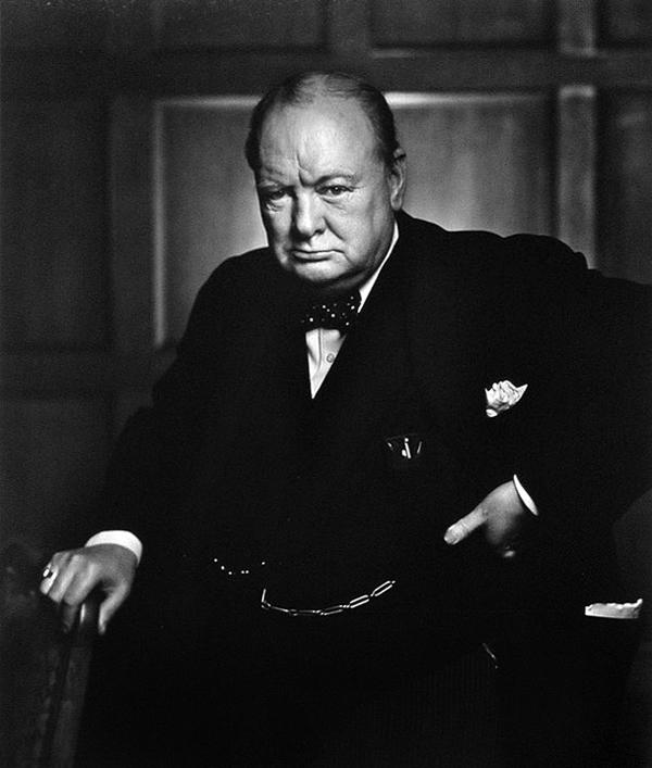Winston Churchill Portrait by Yousuf Karsh