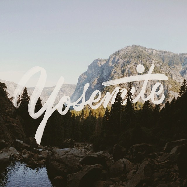 Yosemite Hand Lettering