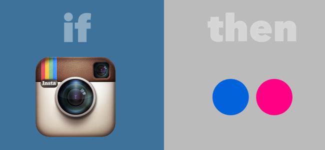 Post Instagram photos to Flickr IFTTT