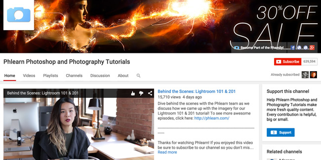 Phlearn-Photoshop-and-Photography-Tutorials-Youtube