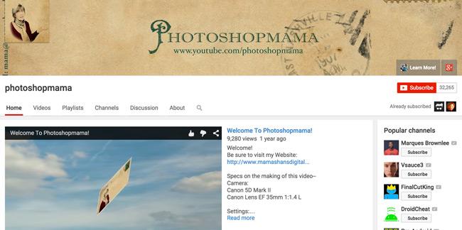 Photoshop-Mama-Youtube