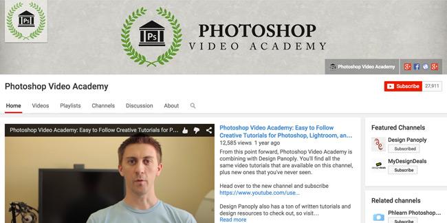 Photoshop-Video-Academy-Youtube