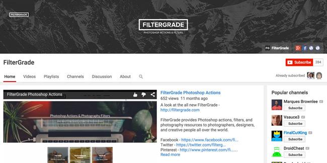 FilterGrade-Youtube-Channel