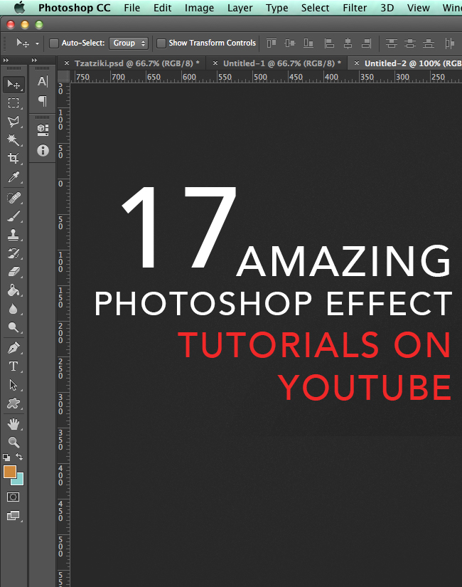 Interesting Photoshop effect tutorials from Youtube.