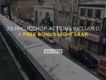 light leak photoshop action bonus