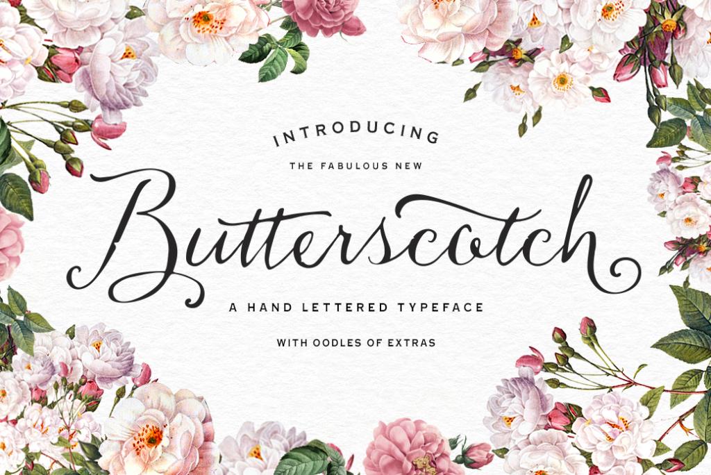 Butterscotch Typeface by Nicky Laatz.