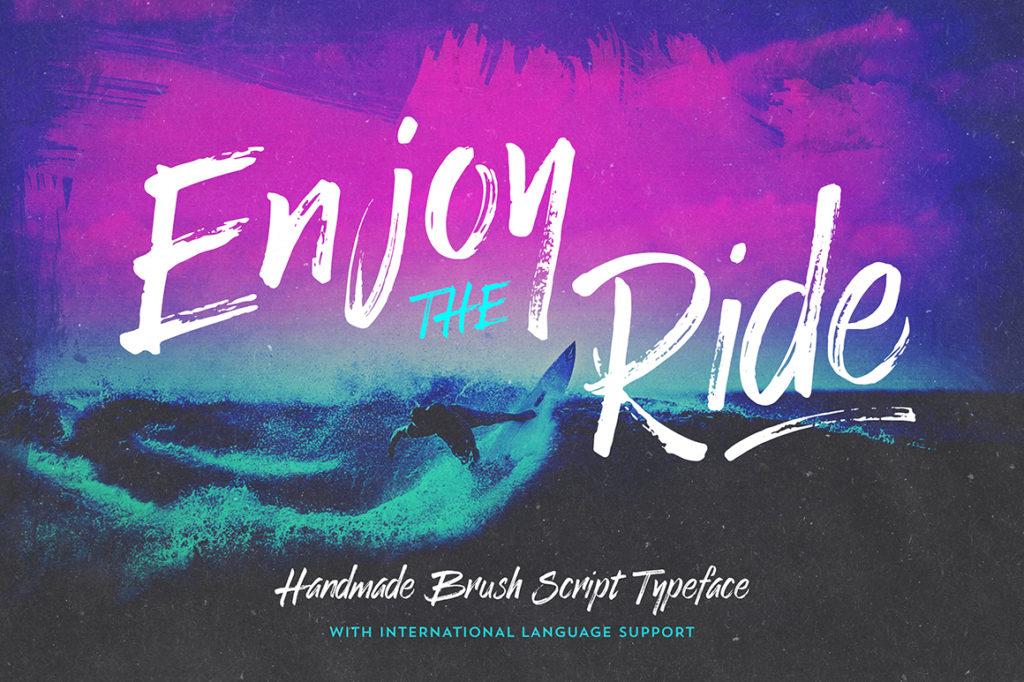 Enjoy the Ride Font Typeface