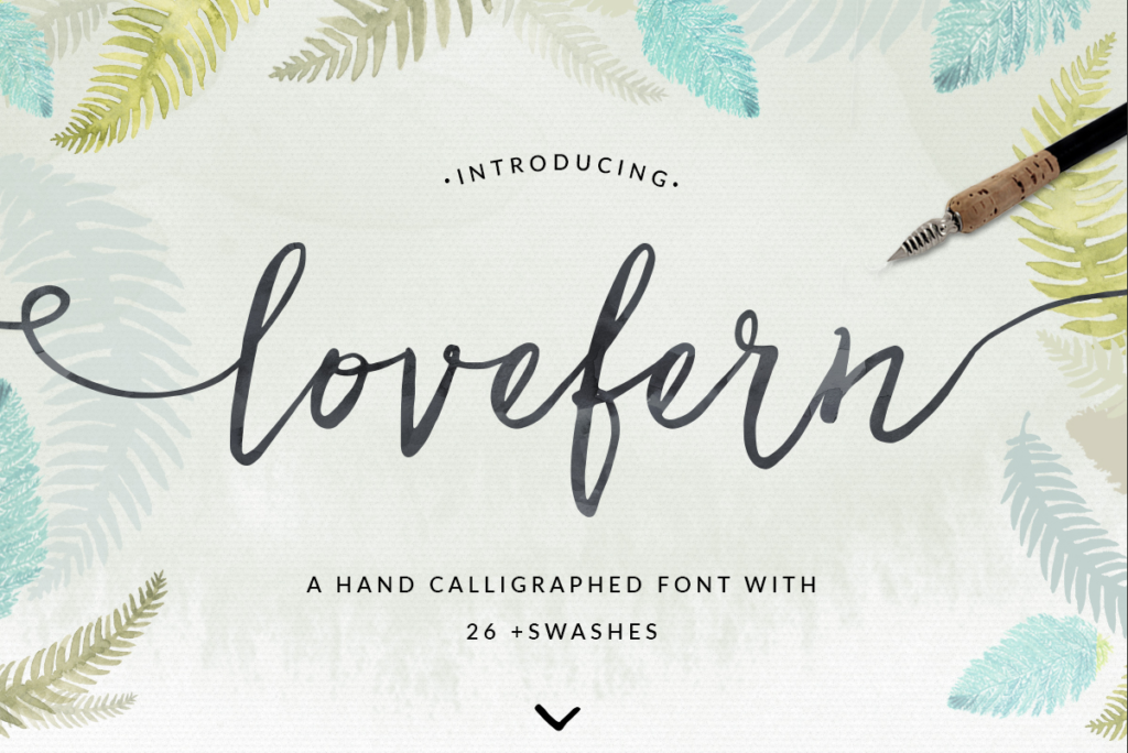 Lovefern Font + Swashes from Angie Makes.