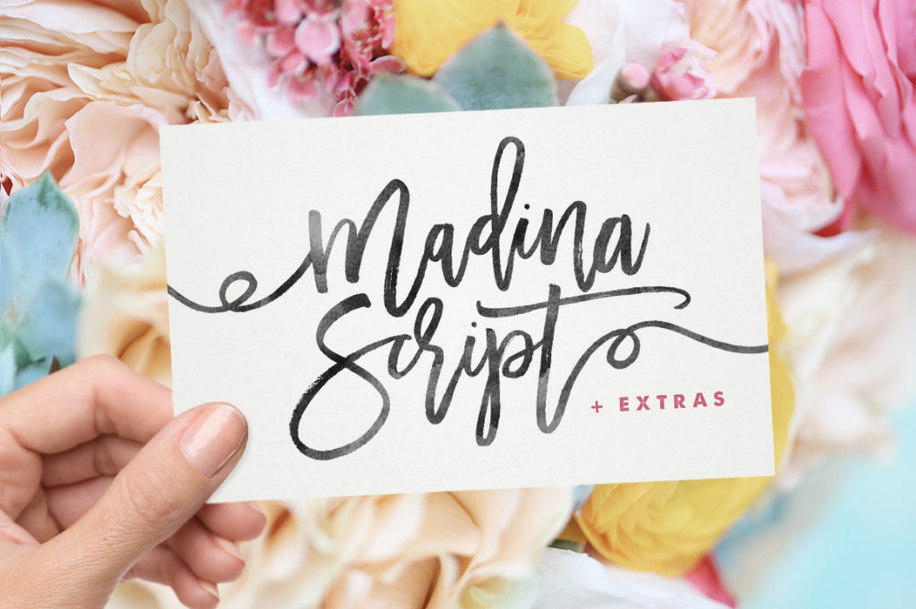Madina Script + Extras from Sam Parrett.