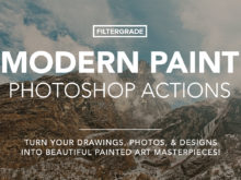 modern paint photoshop actions