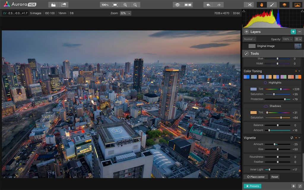Aurora HDR photo editing software for Mac users.