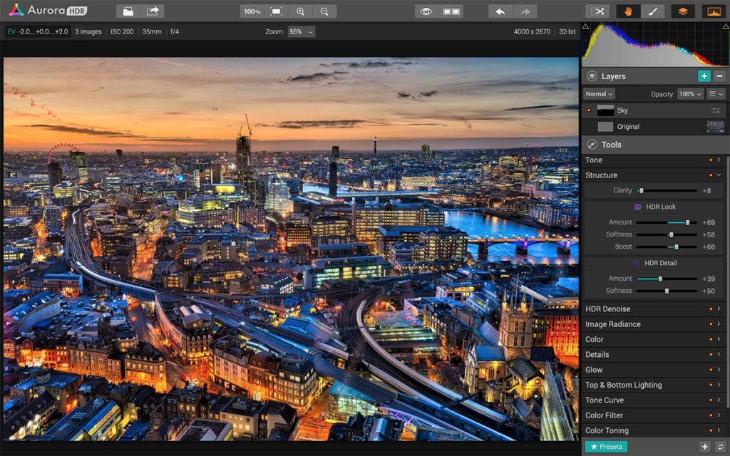 Aurora HDR for Mac.