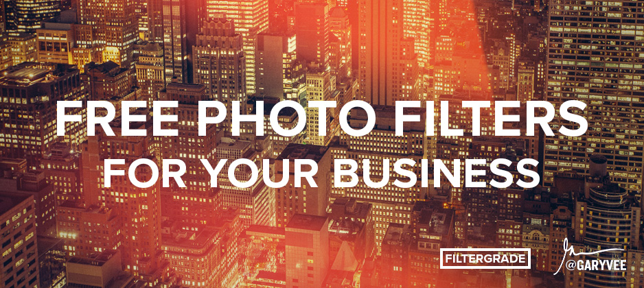 Free photo filters for entrepreneurs and hustlers. Made in collaboration with Gary Vaynerchuk.