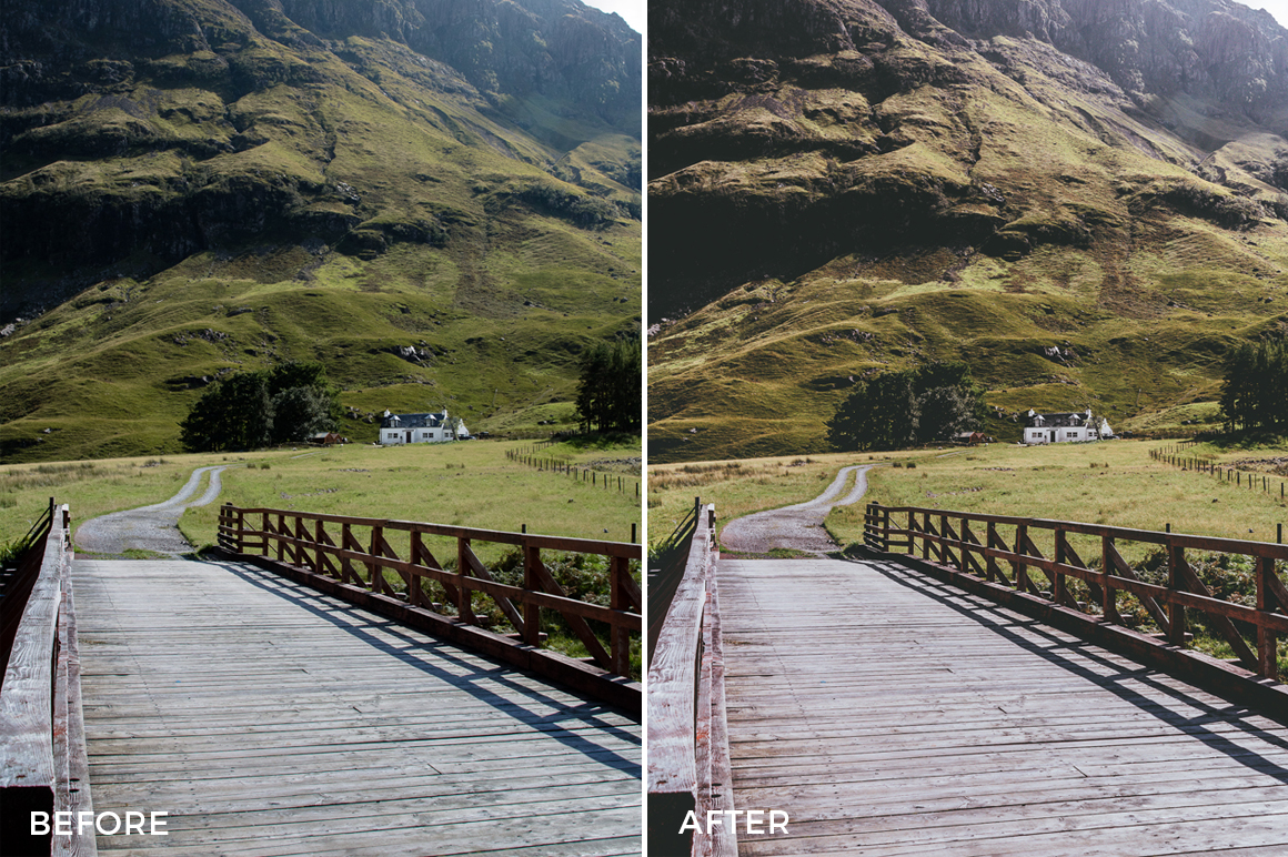 film landscape looks for lightroom by cooper explores