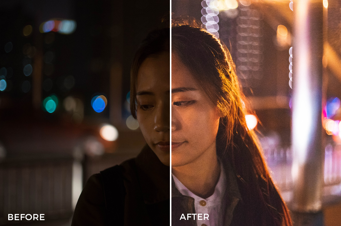 night portraits lightroom presets