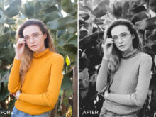 film-like black and white lightroom presets by clay moss