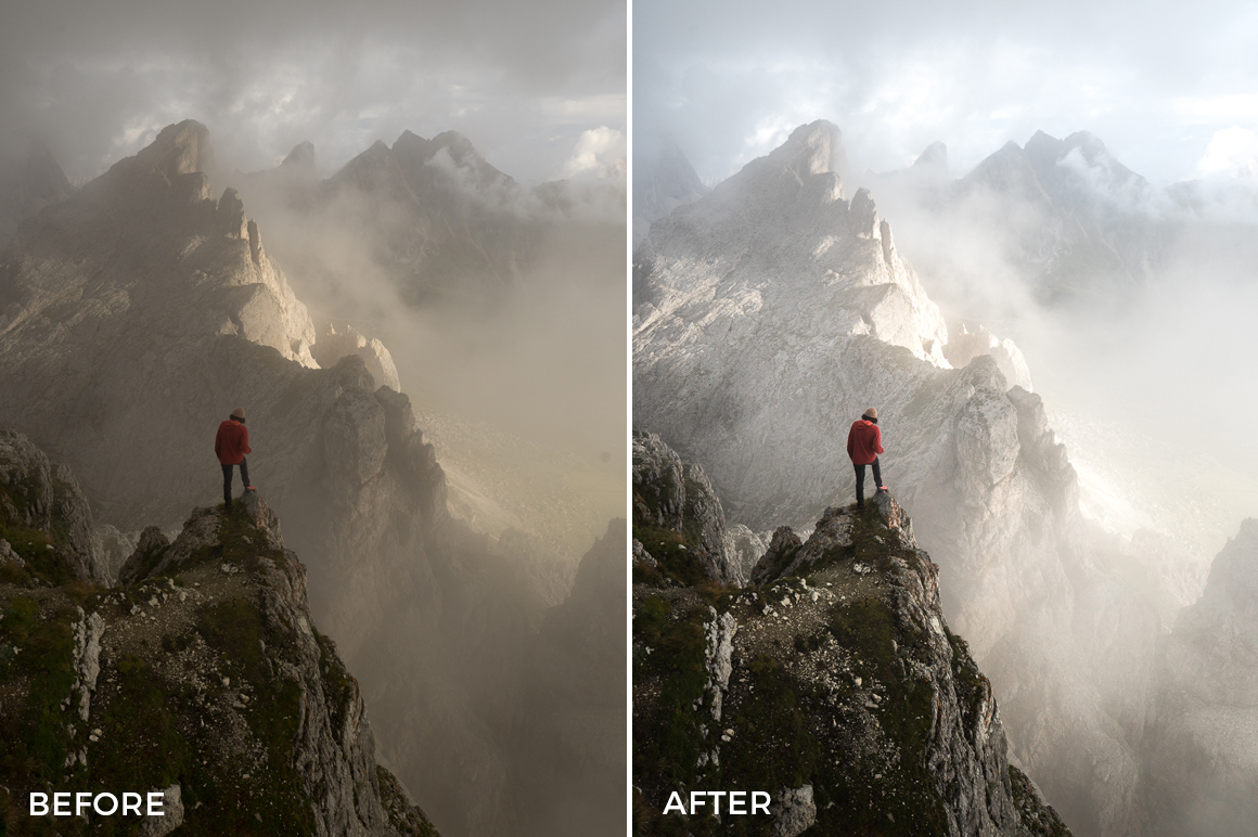 foggy mountains lightroom presets by fuxogram