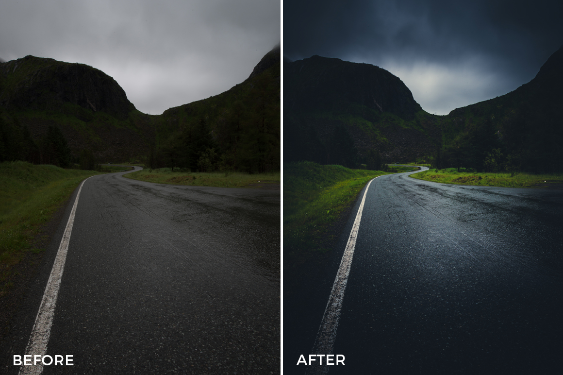dark roads lightroom presets
