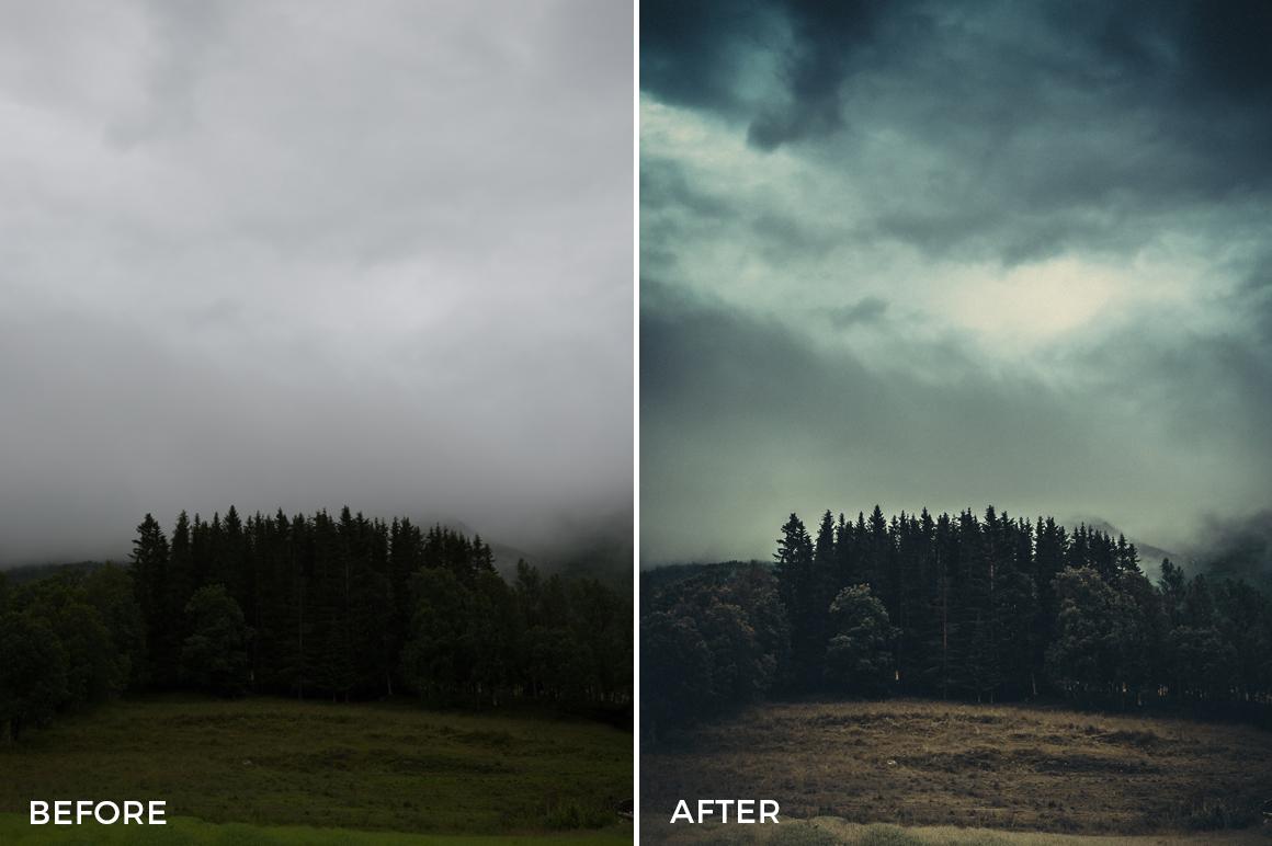 dark intense foggy lightroom presets