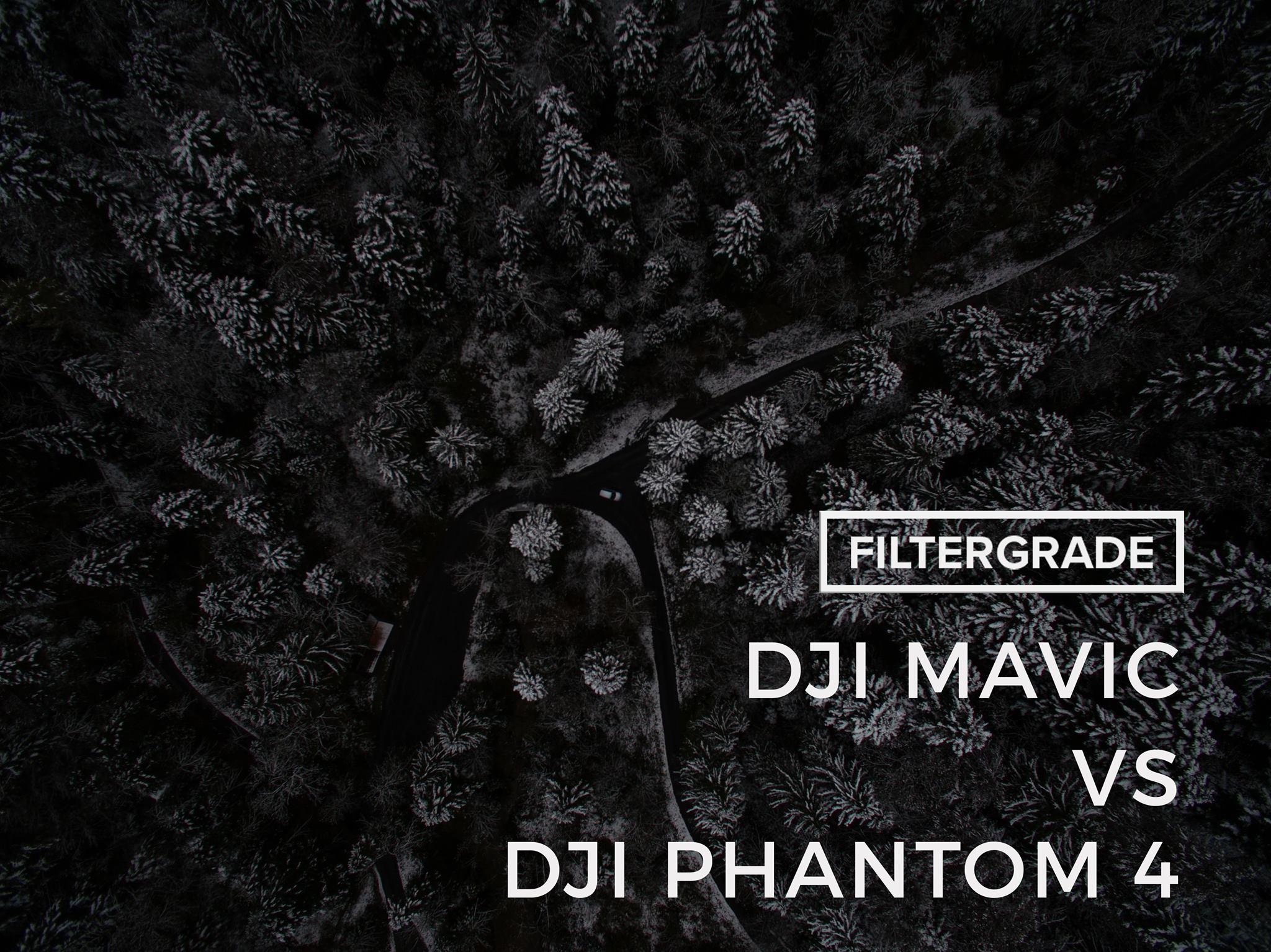The DJI Mavic VS the DJI Phantom 4