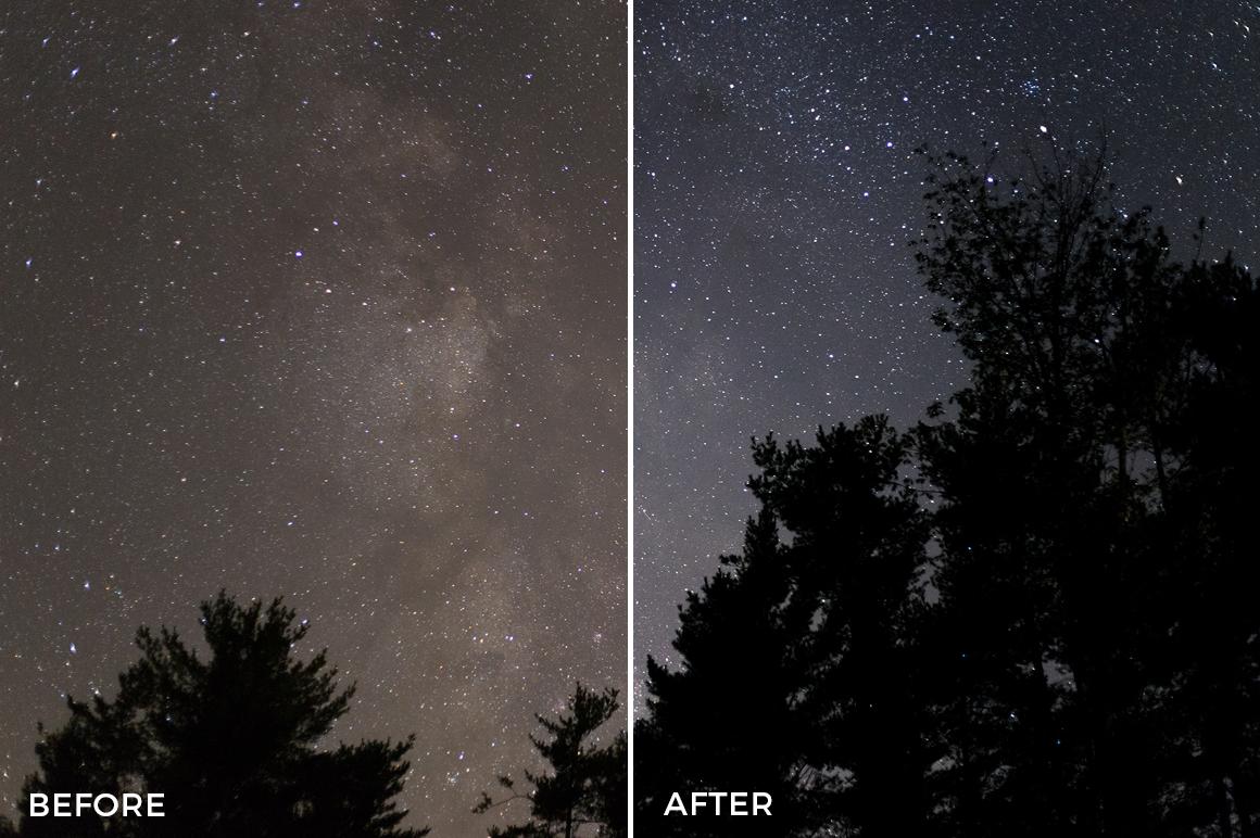 dark night lightroom presets