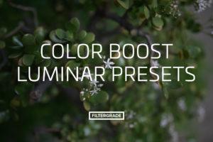 Color Boost Luminar Presets from FilterGrade
