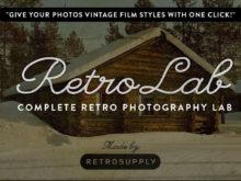 RetroLab Vintage Film Photoshop Actions Bundle