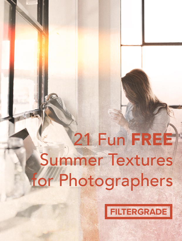 Fun free summer textures for your photo and design projects. Find more than 20 unique overlays!