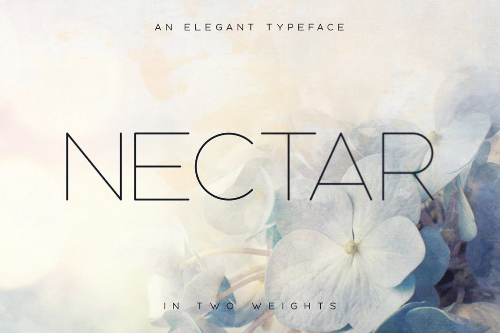 nectar spring typeface