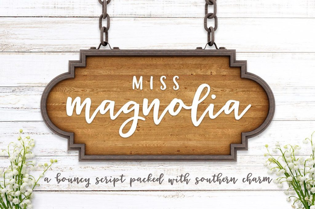 springtime font miss magnolia