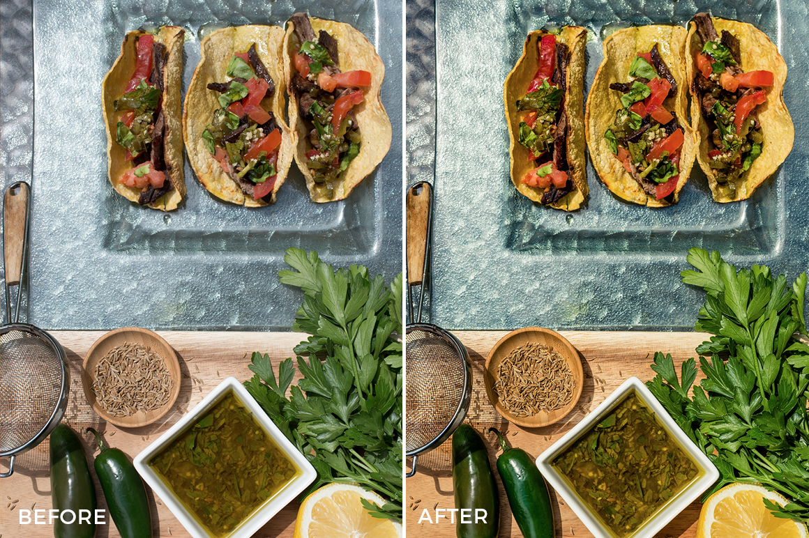 Incredible Culinary Lightroom Presets created by Jessica Marx available now - FilterGrade Marketplace