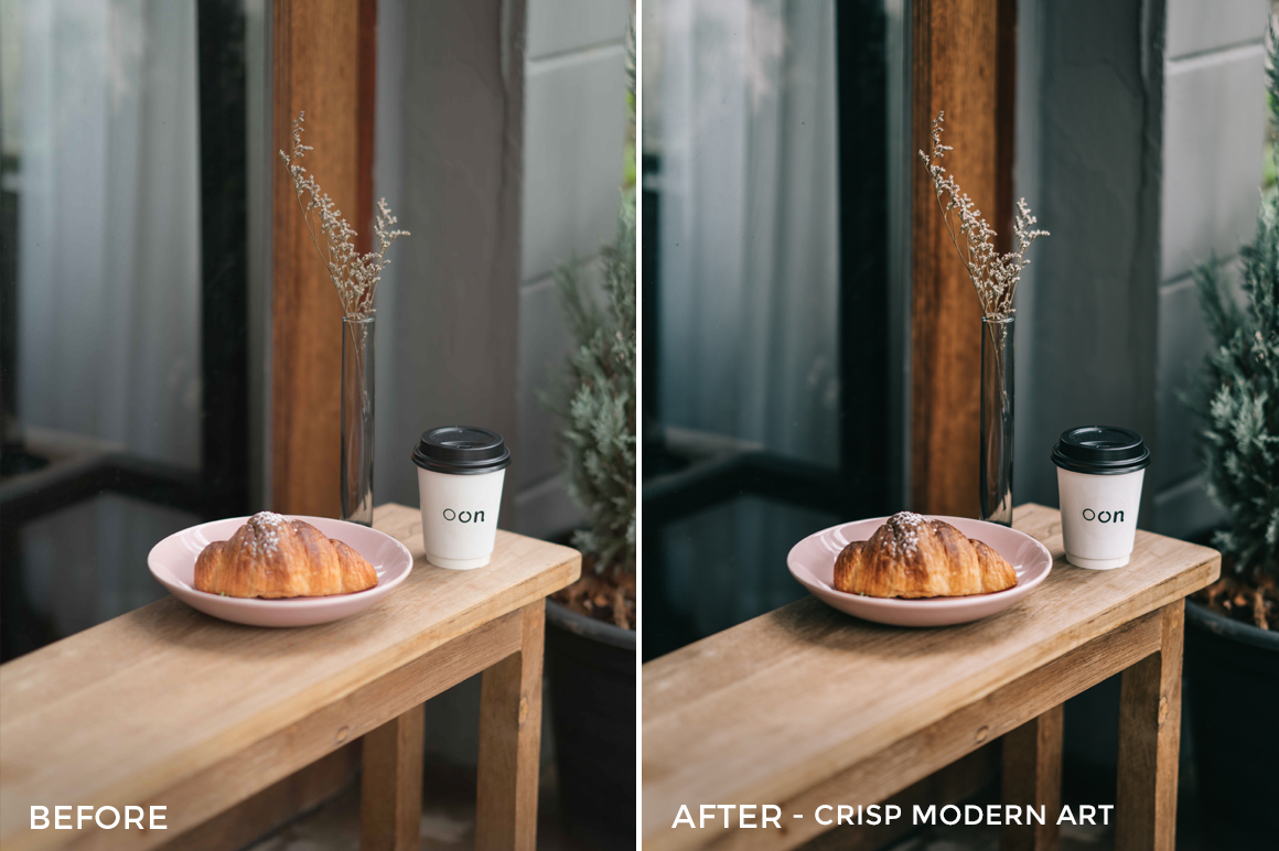 13 Crsip Modern Art - Sean Dalton Cafe & Food Film Lightroom Presets - FilterGrade Marketplace