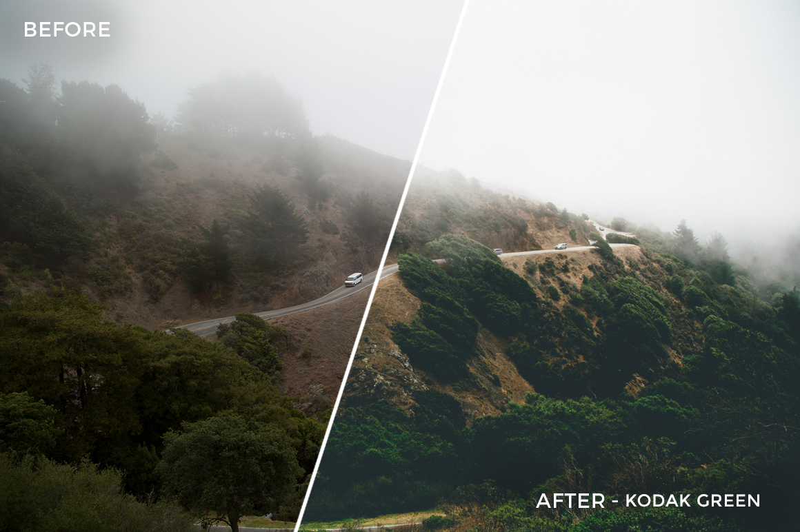9 Kodak green - Kal Visuals Landscape Lightroom Presets I - Kyle Andrew Loftus - FilterGrade Digital Marketplace