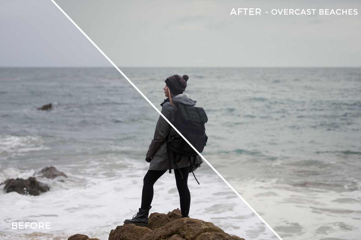 6 Overcast Beaches - Becca Ruski Lightroom Presets - Becca Ruski - FilterGrade Digital Marketplace