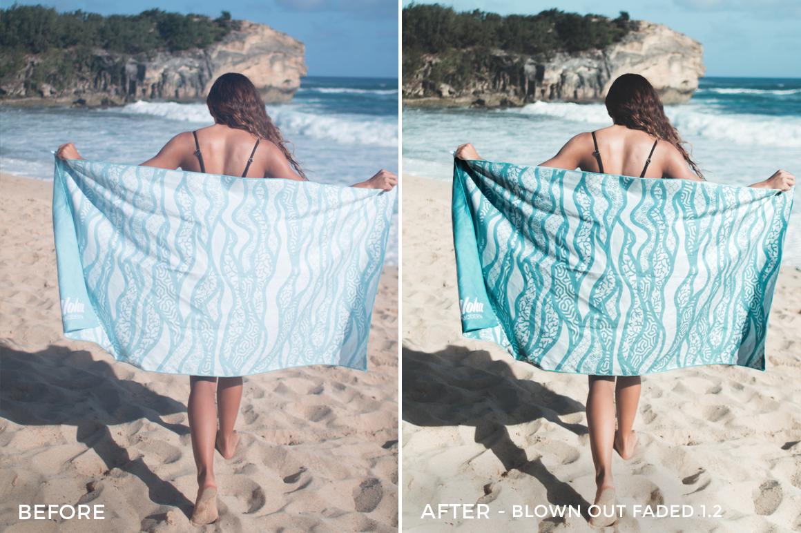 2 Blown Out Faded 1.2 - Beachy Vibes Lightroom Presets - Kilikai Ahuna - FilterGrade Digital Marketplace