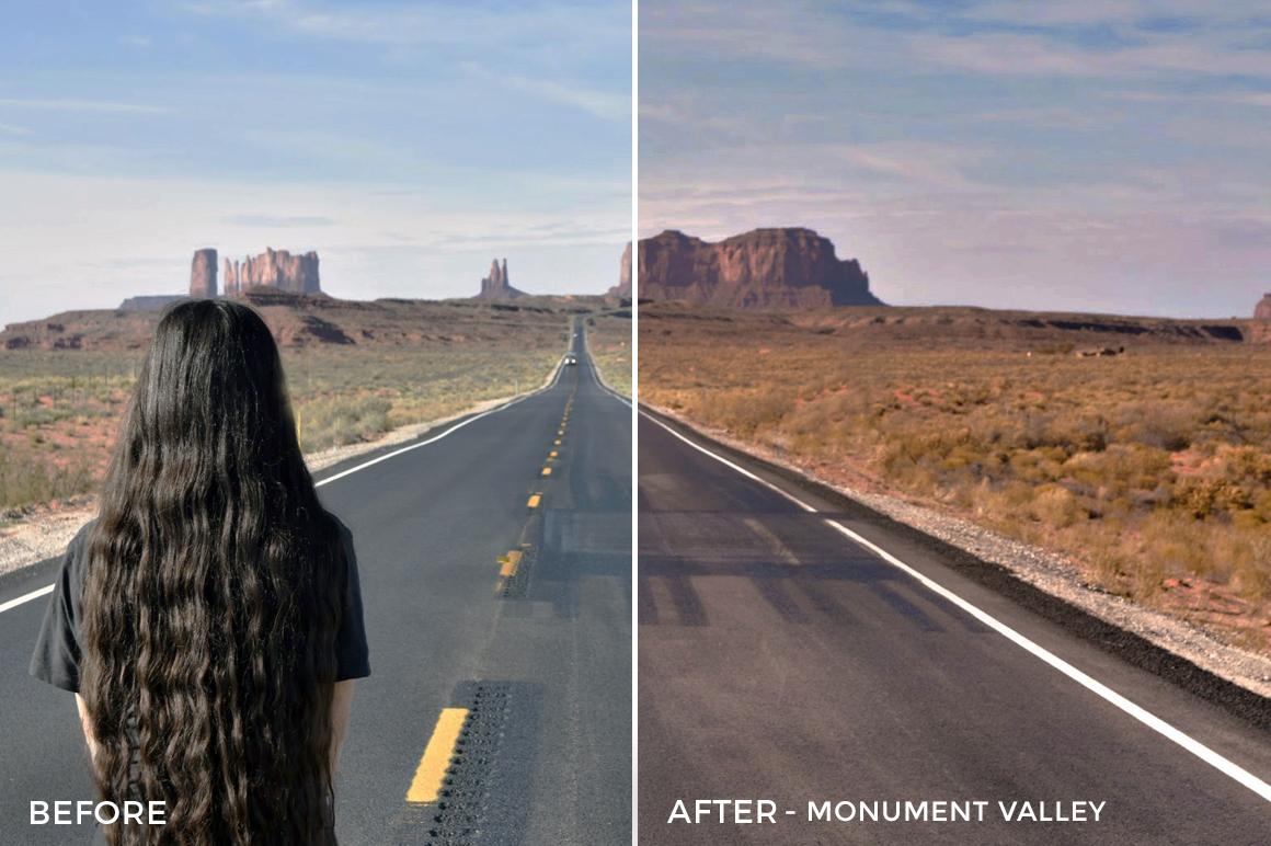 5 - Monument Valley - The Travel Series Lightroom Presets - Vesa Muhaxheri - FilterGrade Digital Marketplace