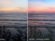 9 - Tropical Sunset - Andreknot Lightroom Presets - FilterGrade Digital Marketplace