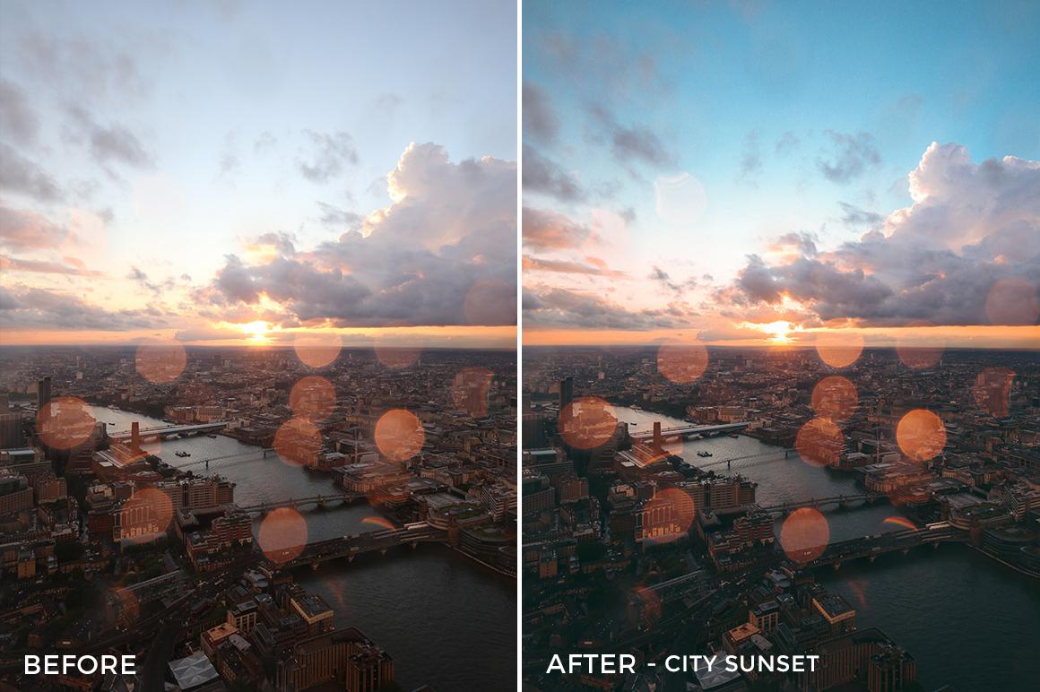 3 - City Sunset - Andreknot Lightroom Presets - FilterGrade Digital Marketplace