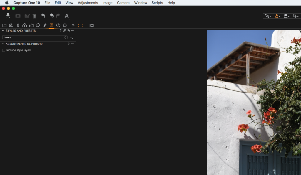 Styles Panel in Capture One Pro 10